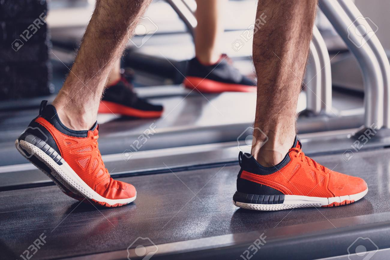 Comfortable Sports Shoes For Running In The Gym Jogging Shoes Stock Photo Picture And Royalty Free Image Image 114162604