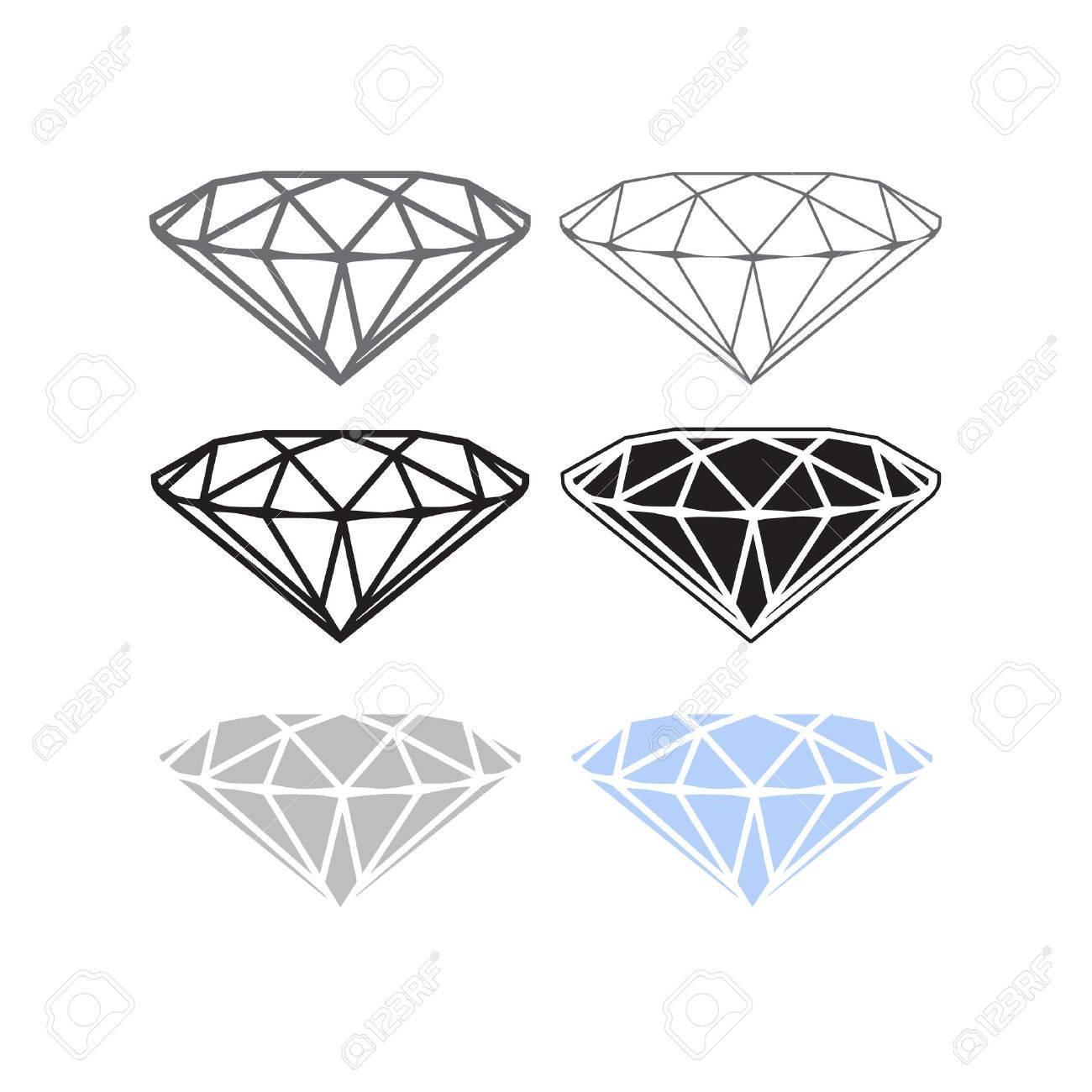 Vector Diamond Icon Or Logo Concept Brilliant Symbol Of Wealth