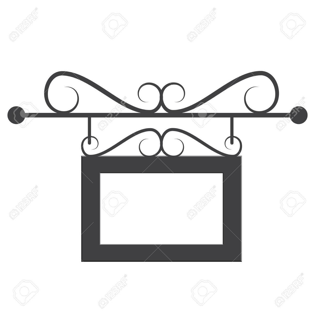 Blank Fotorahmen Auf Weißem Hintergrund. Schwarz-Weiß-Vektor ...
