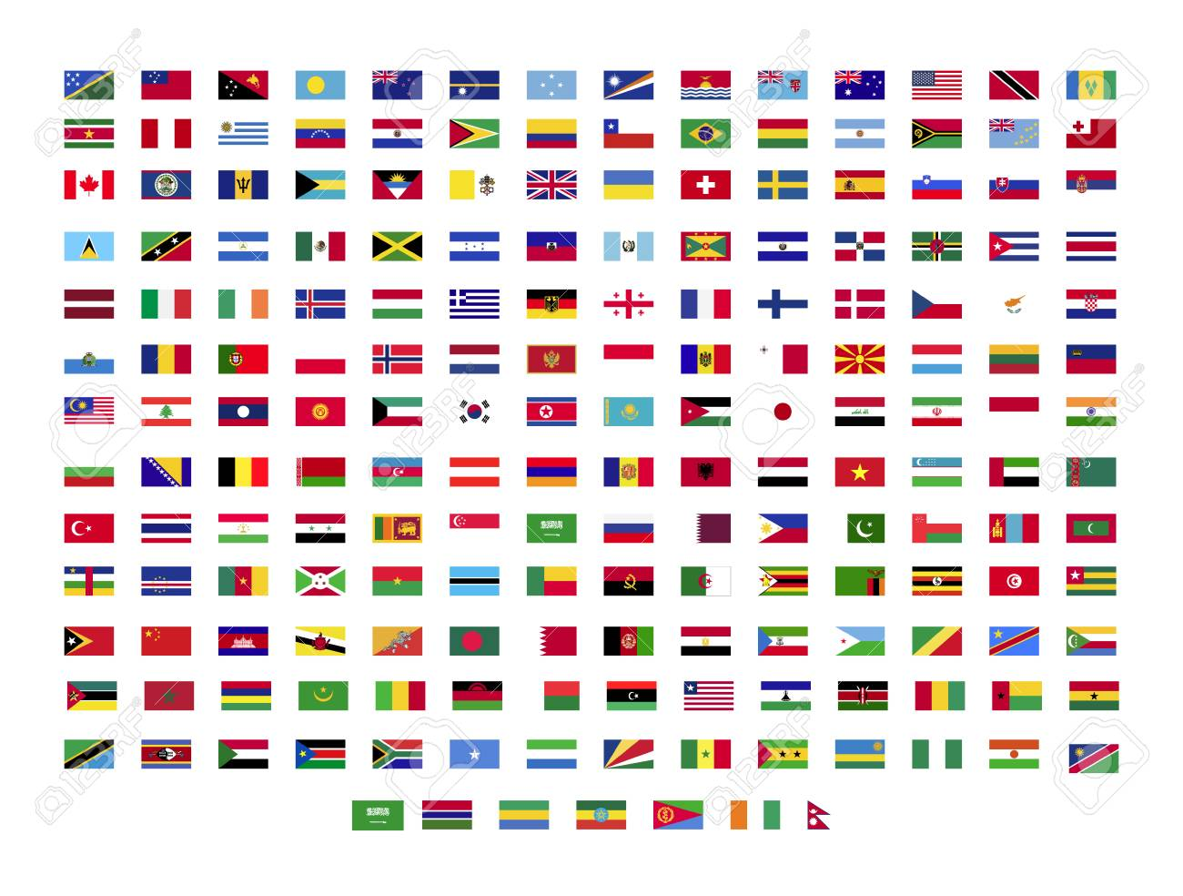 All world flags on white background - 120183347