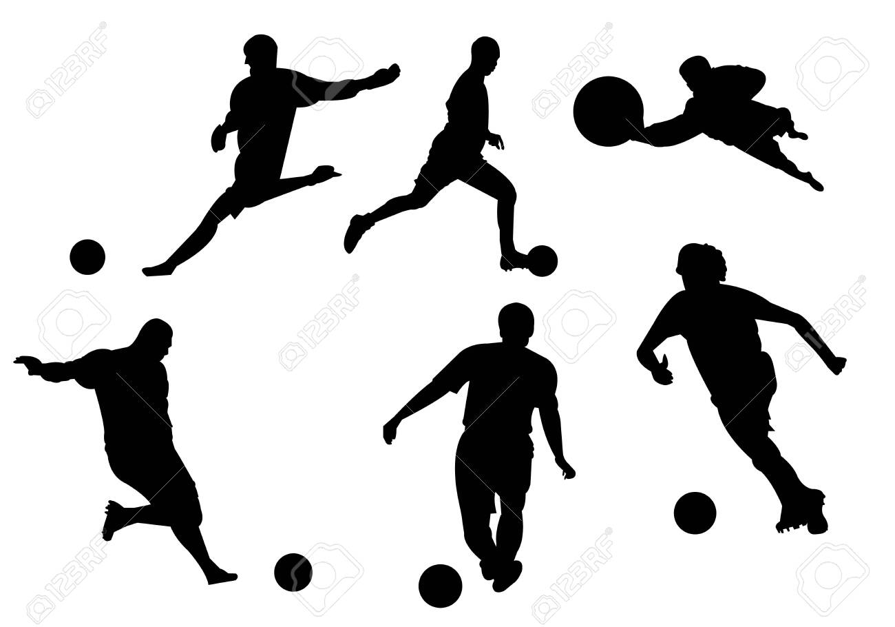 Soccer football silhouette on white background - 120114425