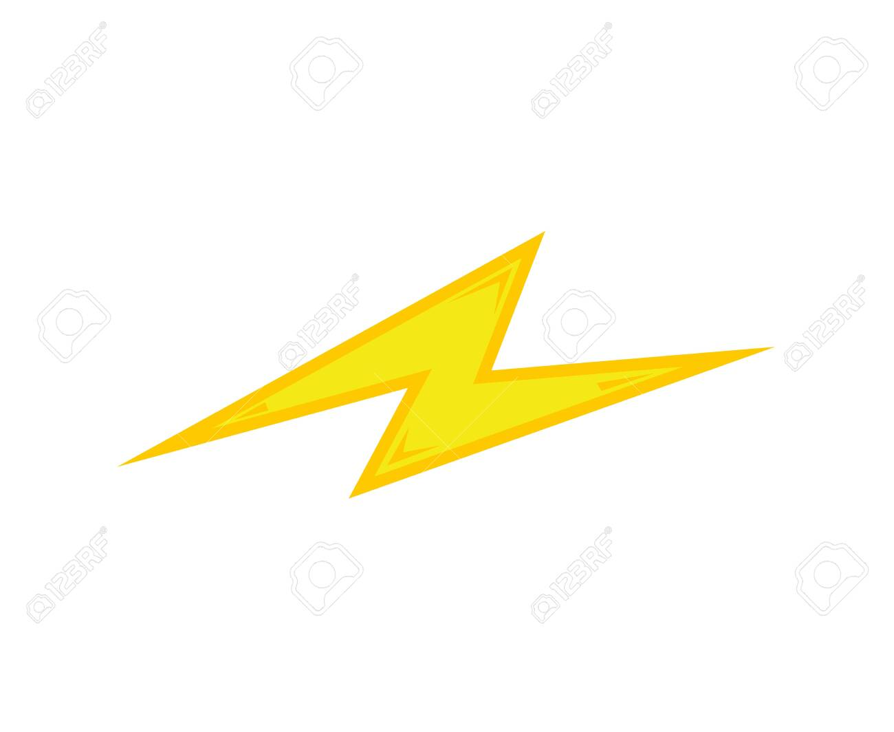 Yellow Bolt Flash Icon With Effects Isolated On White Background Royalty Free Cliparts Vectors And Stock Illustration Image 141675455