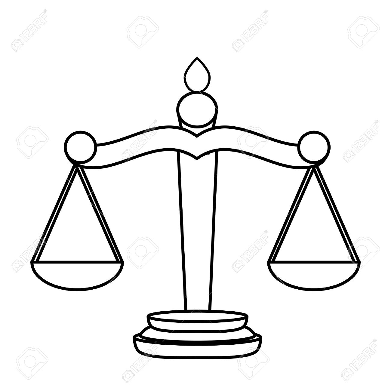 Scales of Justice Stock Vector - 16672151