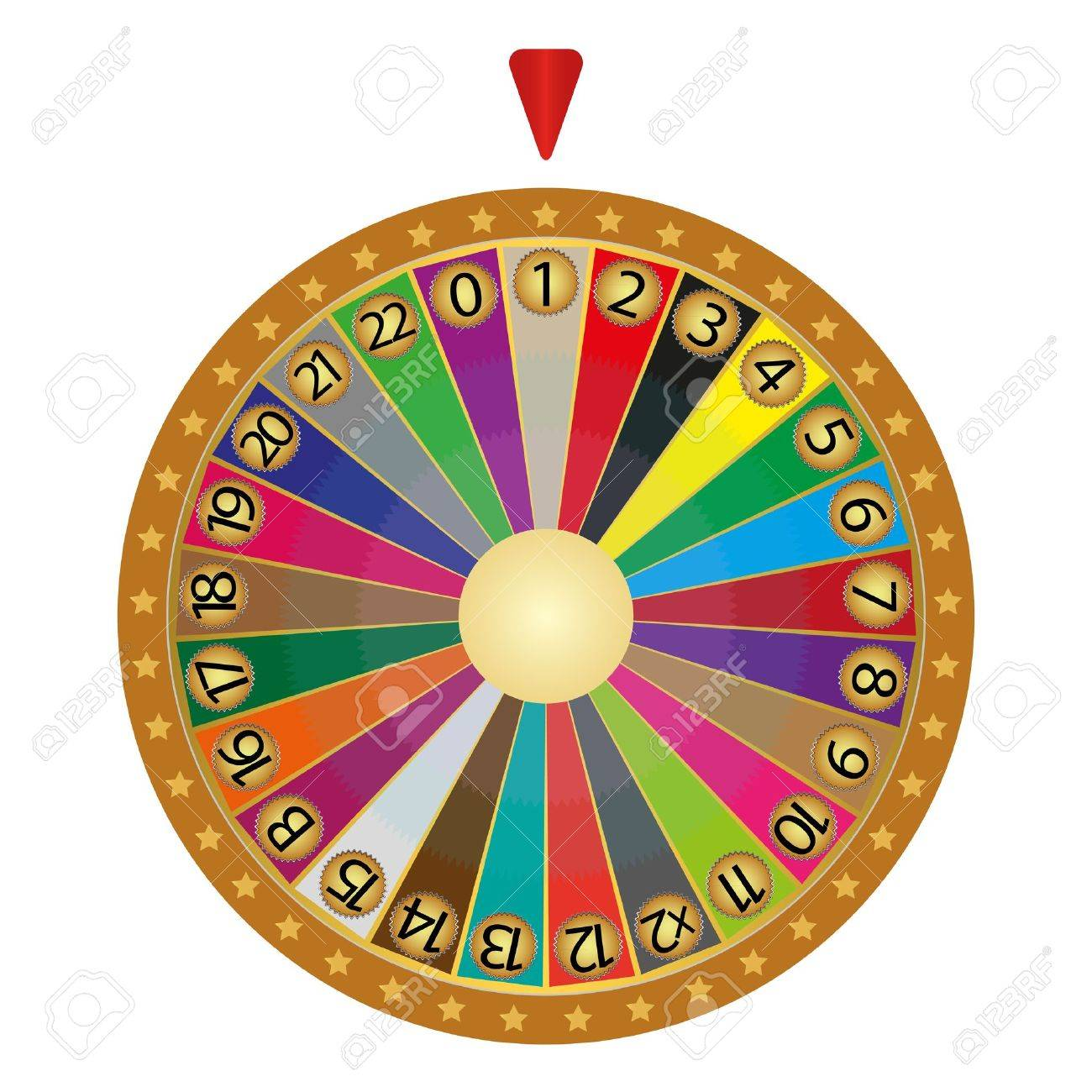 Wheel of fortune Stock Vector - 16718143