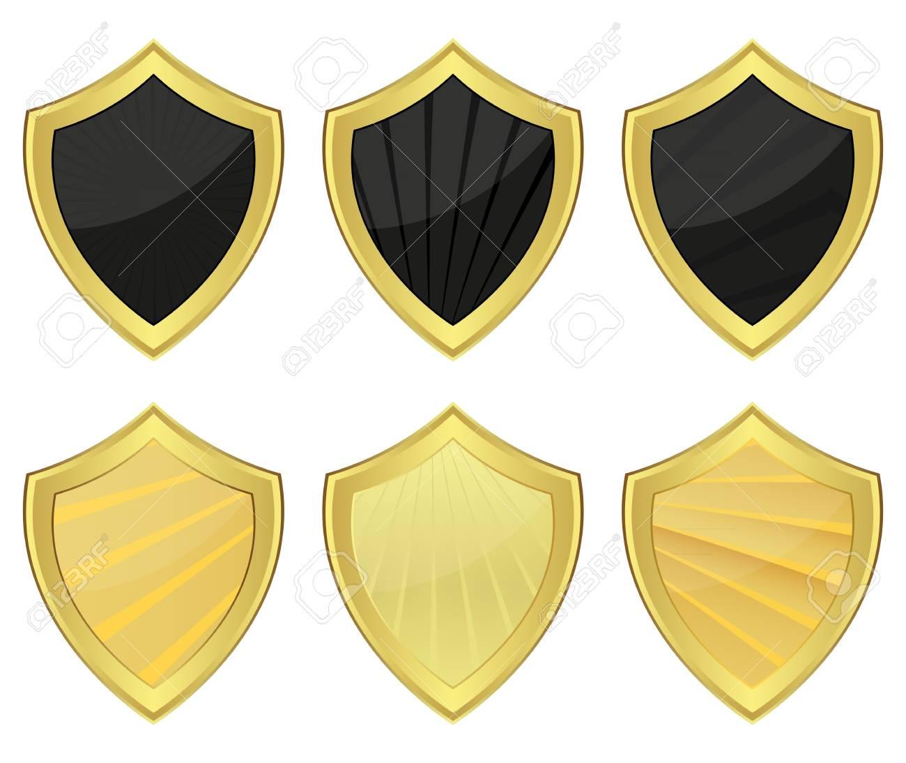 Set of shields Stock Vector - 16740235