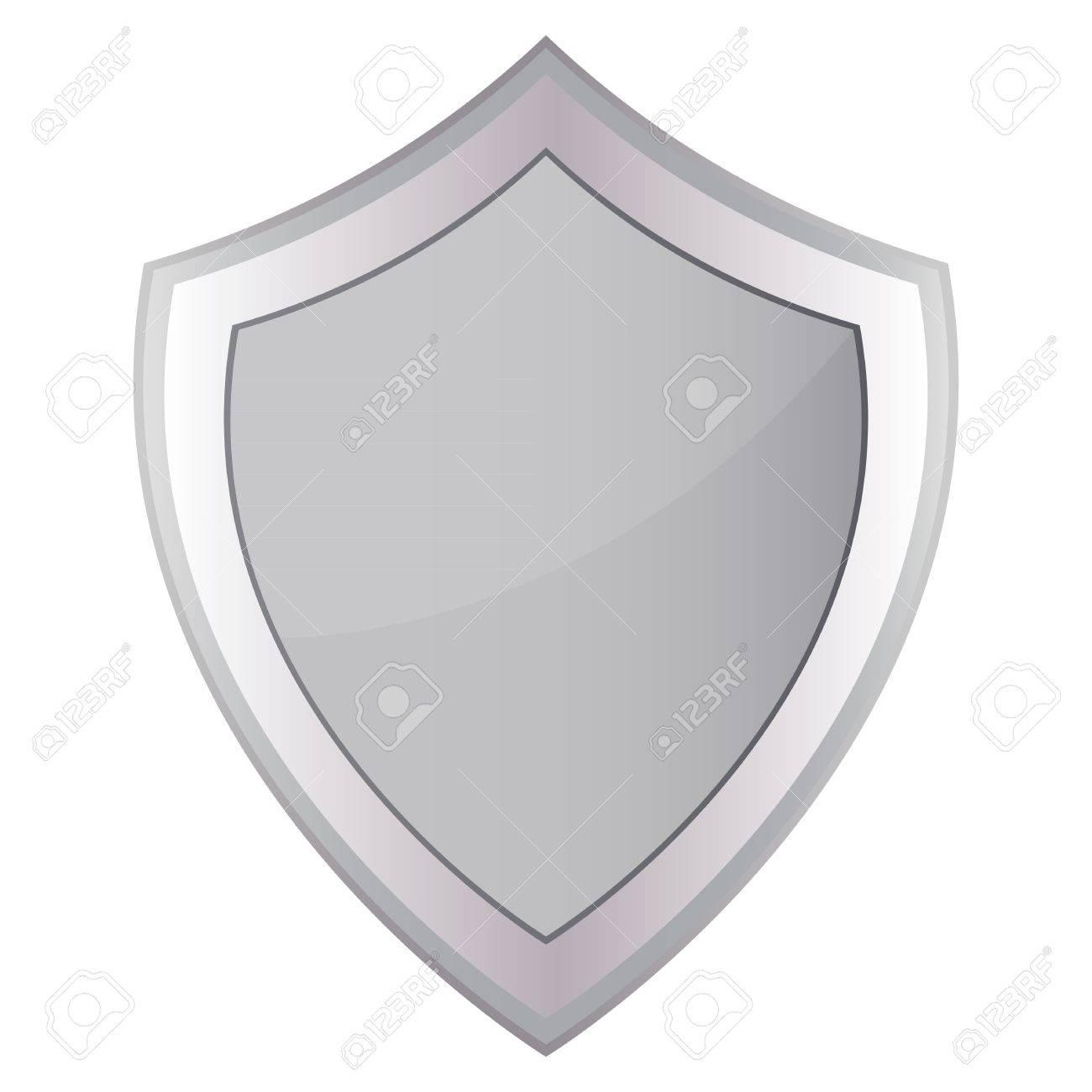 Grey shield Stock Vector - 16973734