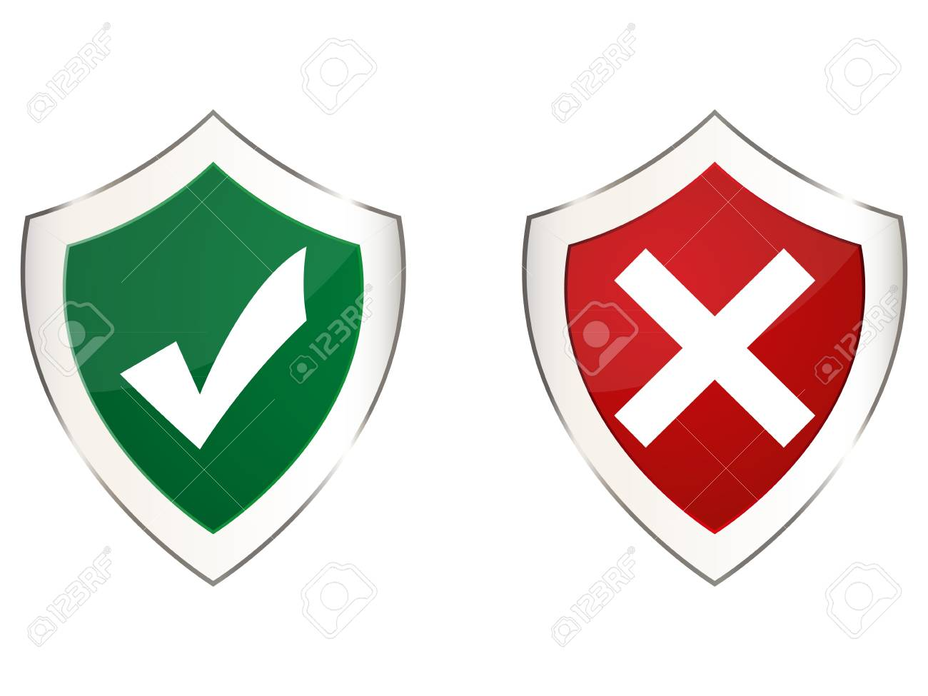 two shields Stock Vector - 16973739