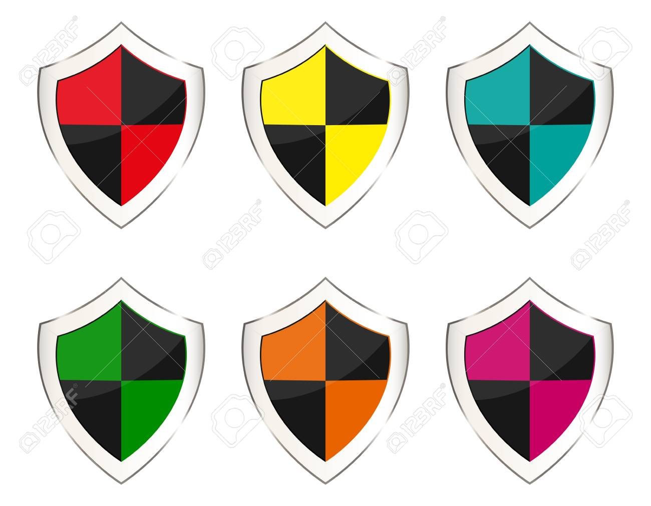 set of shields Stock Vector - 16973735