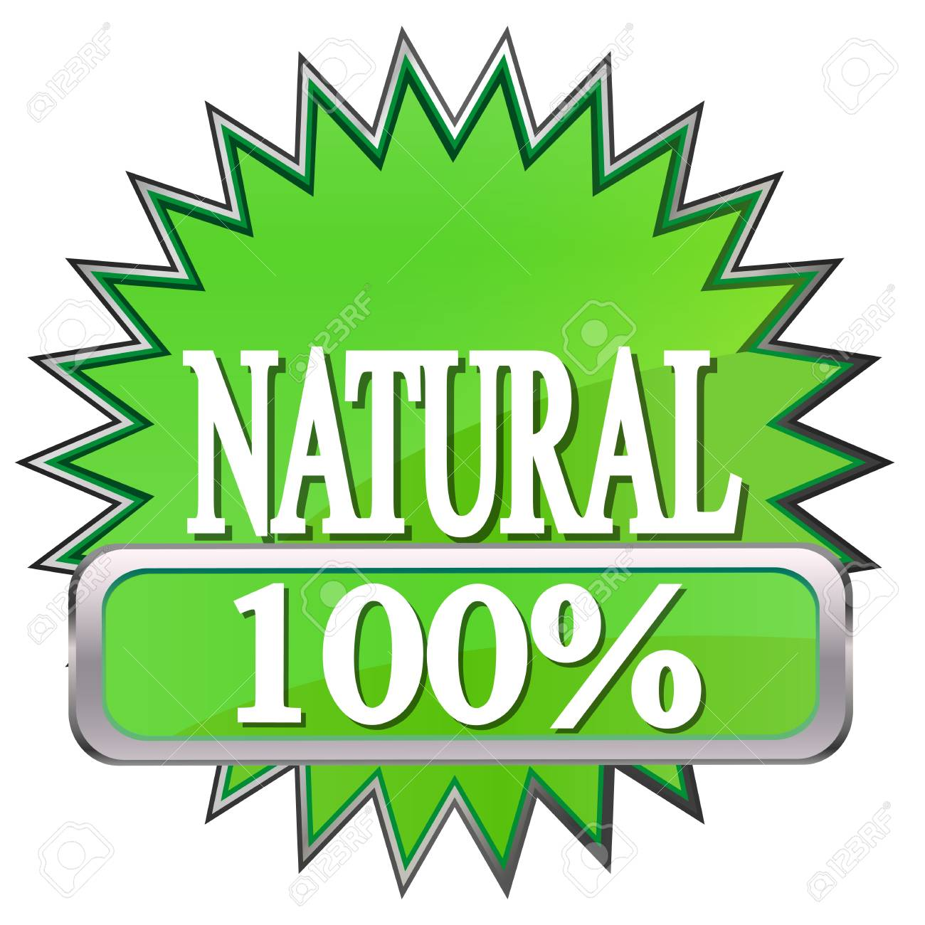 green button labeled natural Stock Vector - 17140446