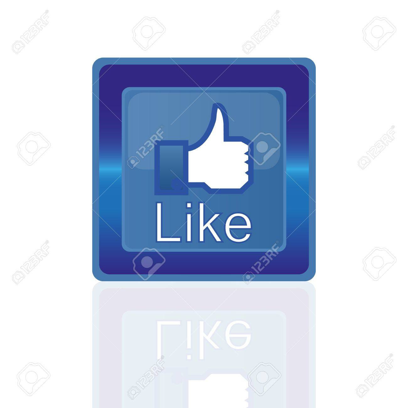 Button labeled Like Stock Vector - 17181831