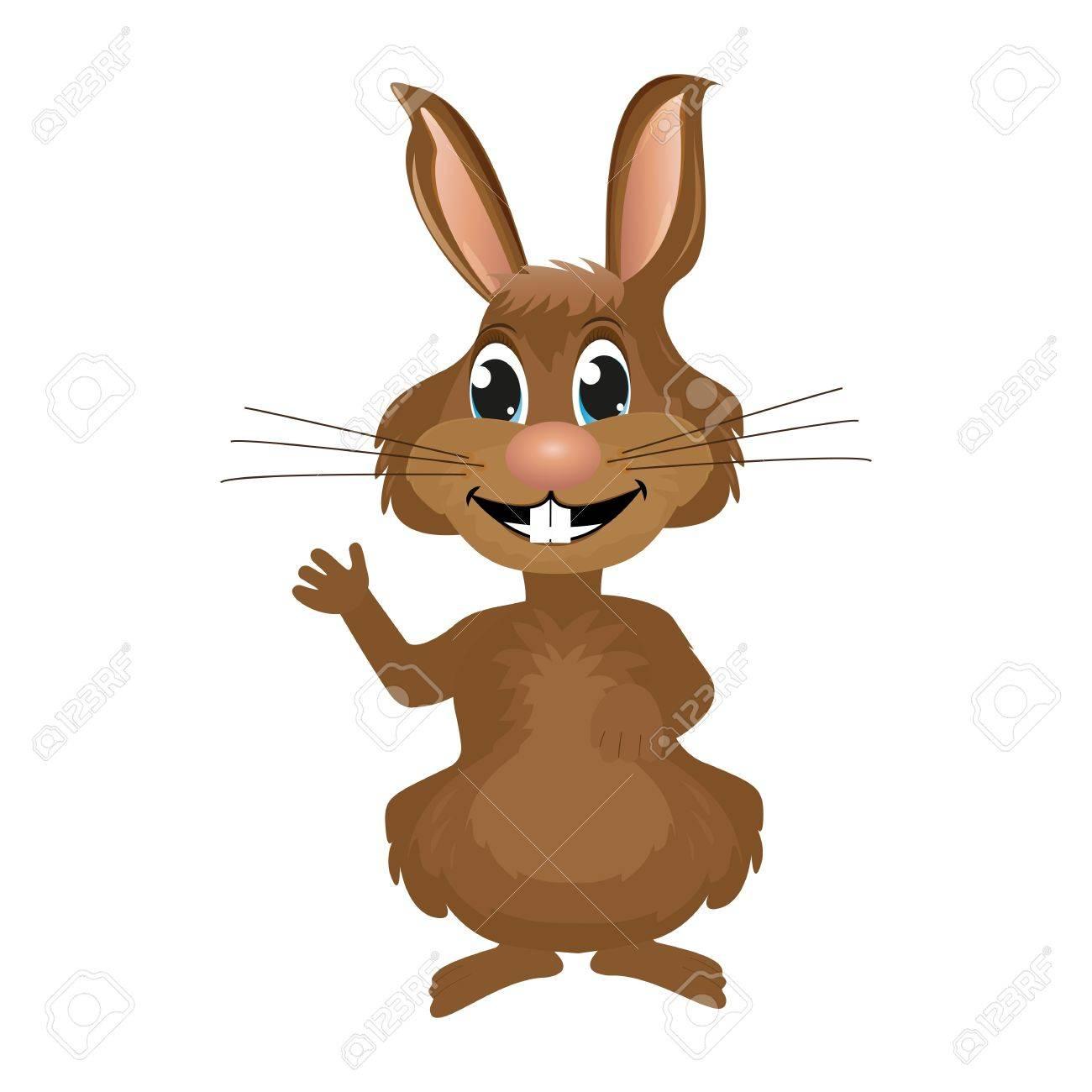 Rabbit waving paw Stock Vector - 17574999