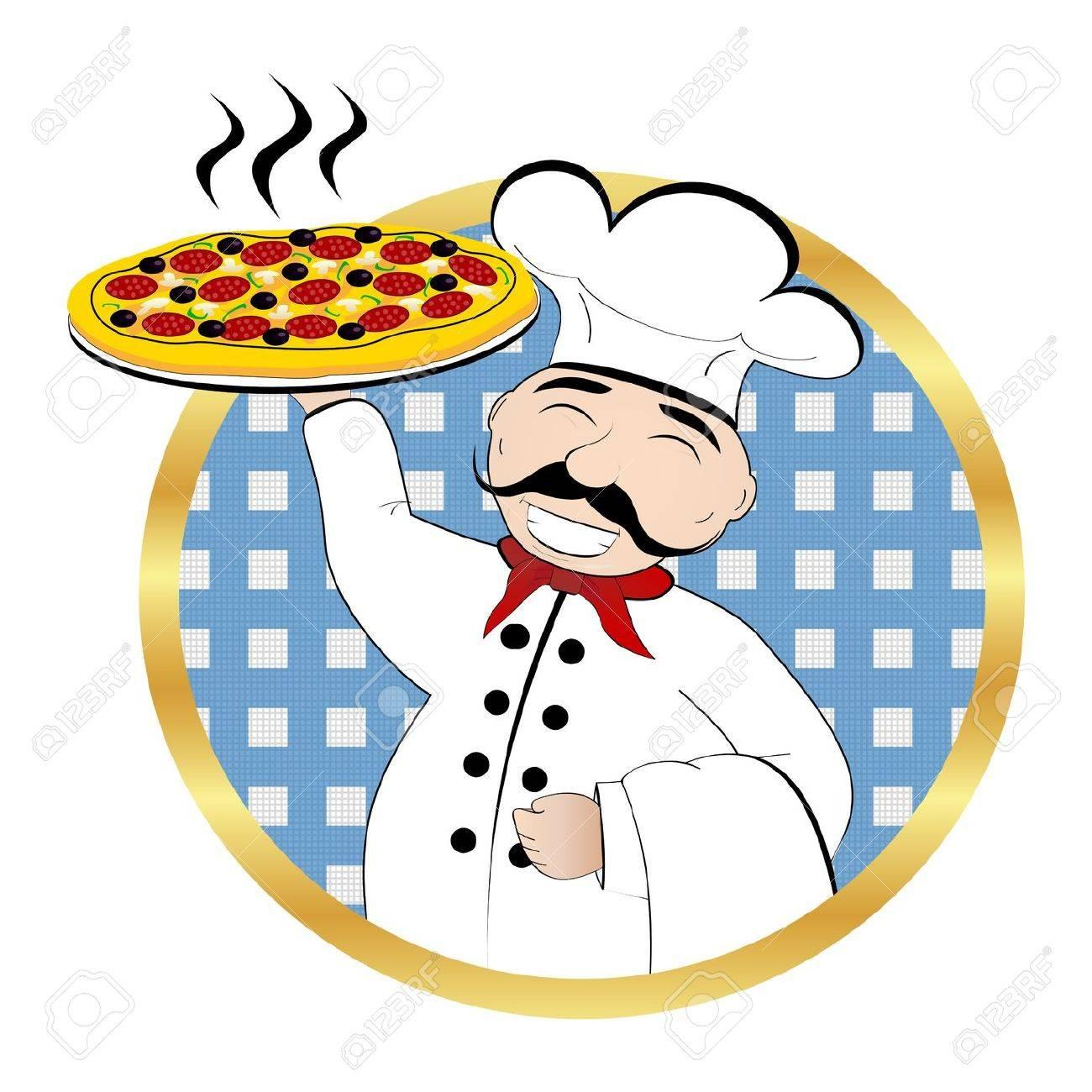 Pizza Chef Stock Vector - 18046596