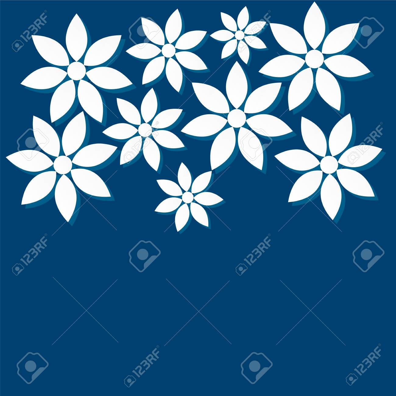 patterns of flowers out of paper Stock Vector - 18748499