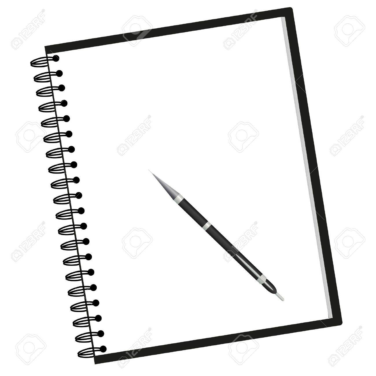 notebook and pen royalty free cliparts, vectors, and stock
