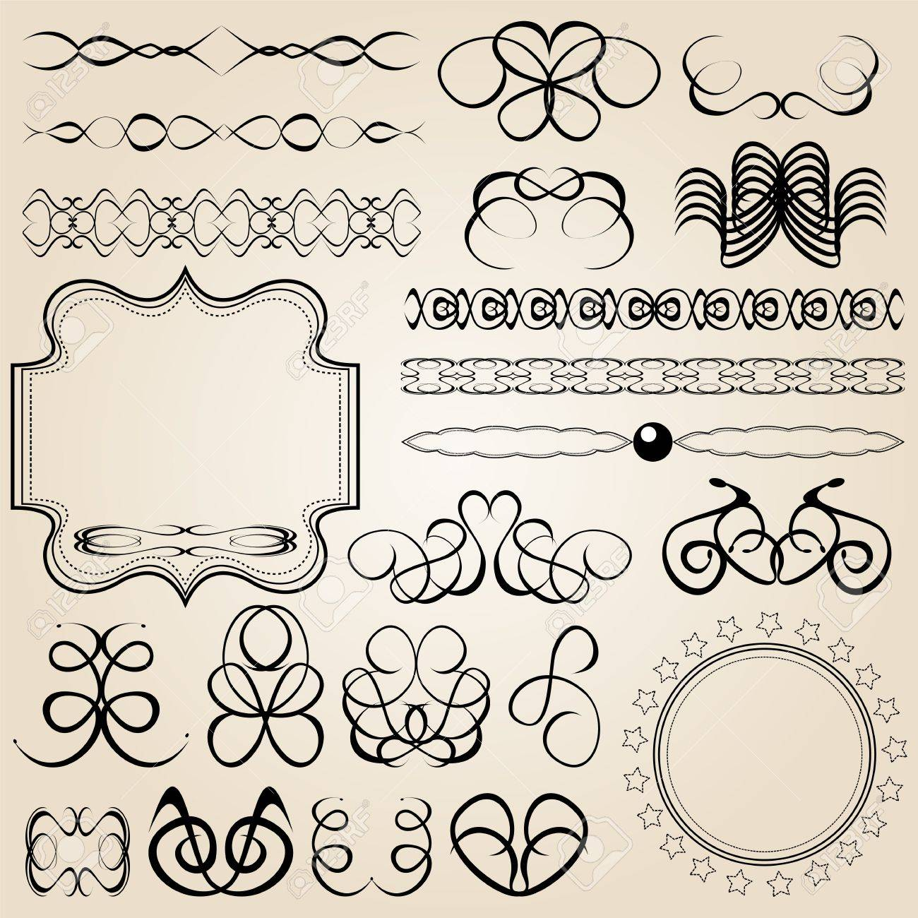 set of vector calligraphy elements Stock Vector - 19172271