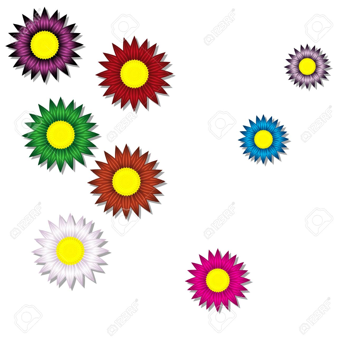 background of paper flowers Stock Vector - 19987793