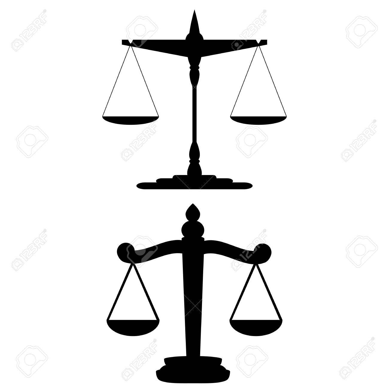 Scales of Justice  vector Stock Vector - 21218816