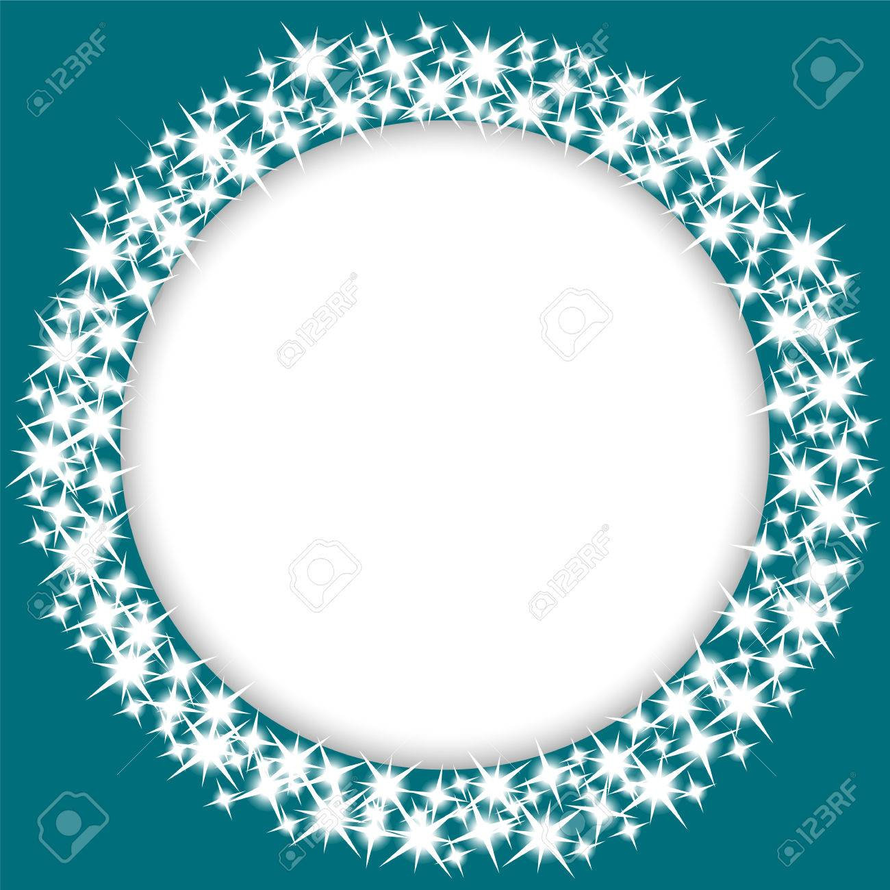 round frame with stars Stock Vector - 22633394