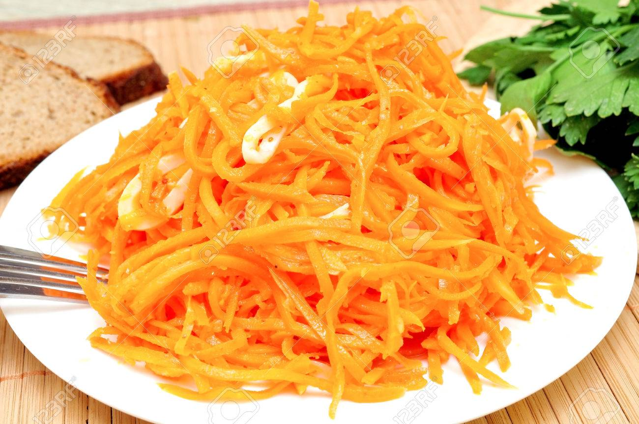 Salad Recipes with Squid and Korean Carrots 16