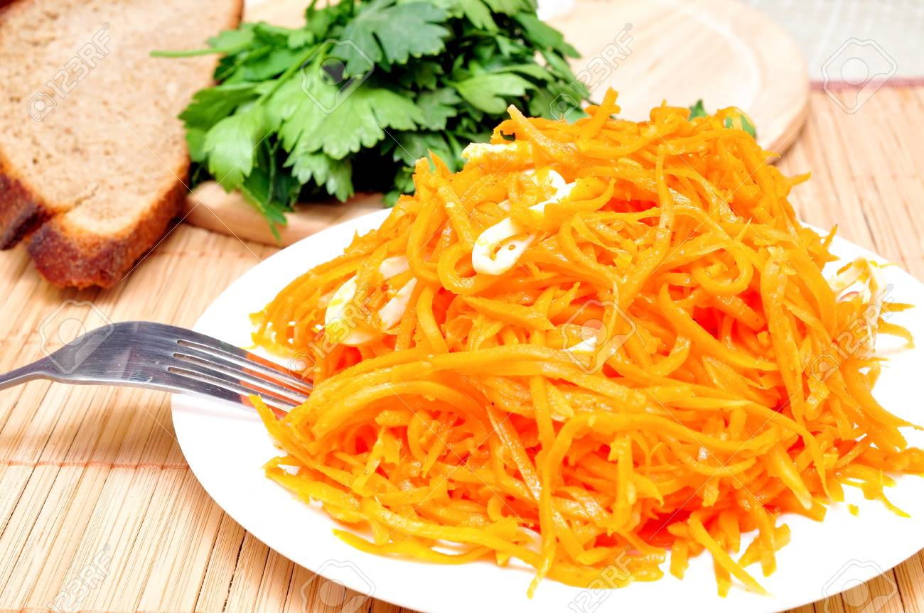 Salad Recipes with Squid and Korean Carrots 94