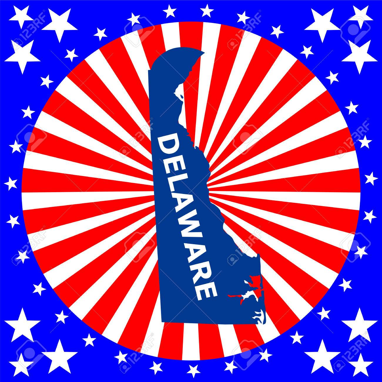 Map Of The U S State Of Delaware Royalty Free Cliparts Vectors - Delaware us map