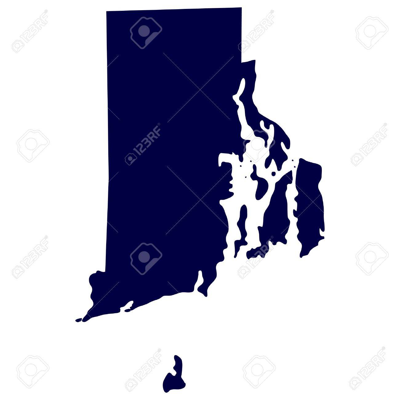 Map Of The U S State Of Rhode Island Royalty Free Cliparts - Rhode island on the us map