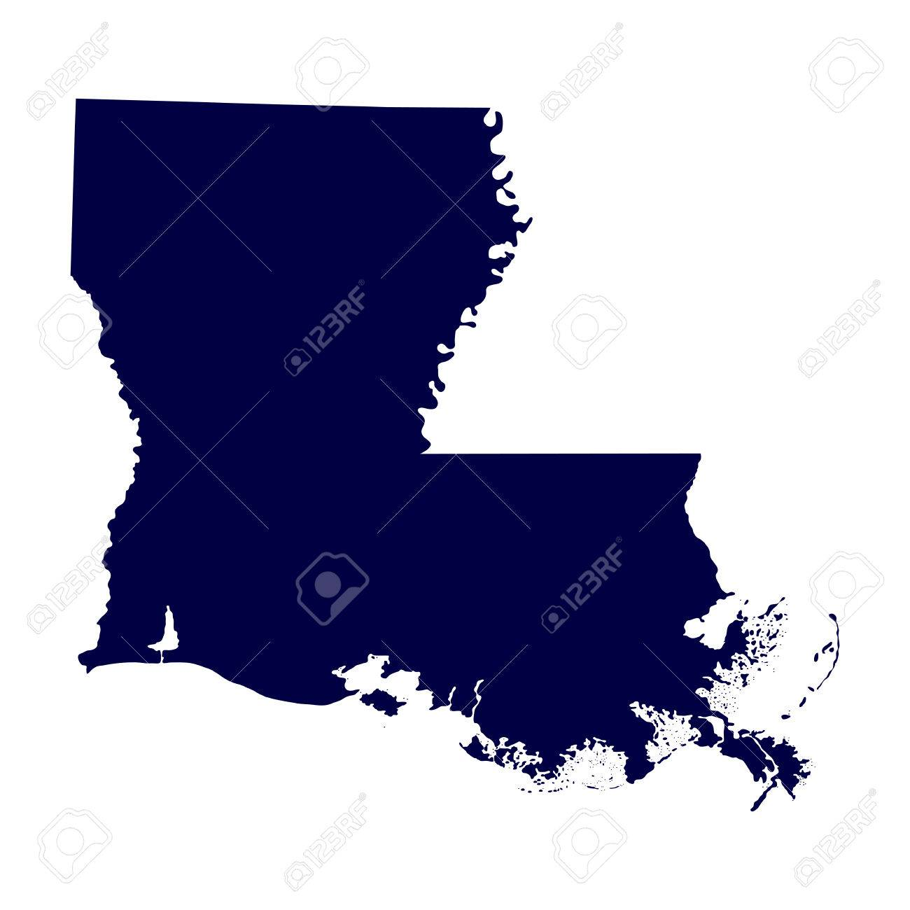 Reference Map Of Louisiana USA Nations Online Project Louisiana - Us map of louisiana