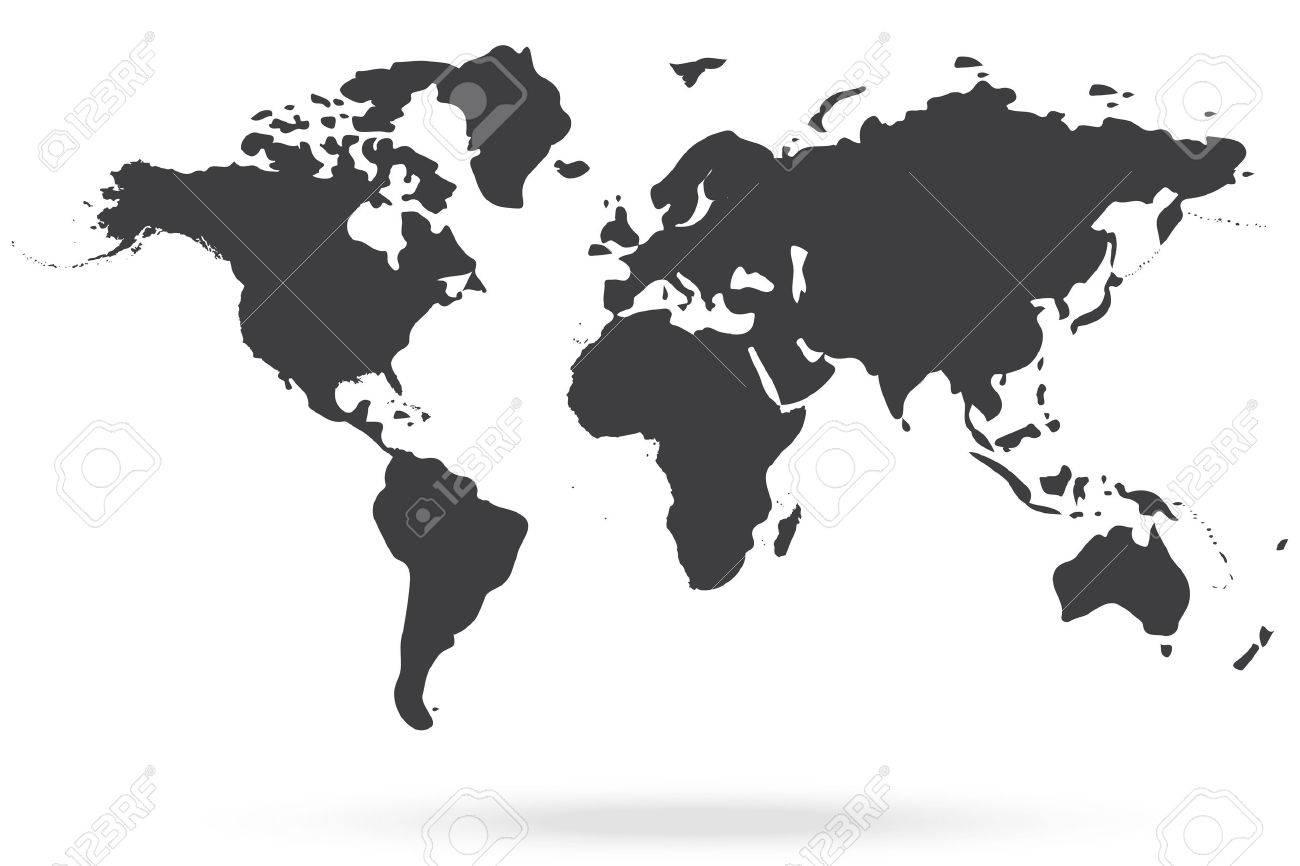 World map gray royalty free cliparts vectors and stock world map gray stock vector 45490427 sciox Gallery
