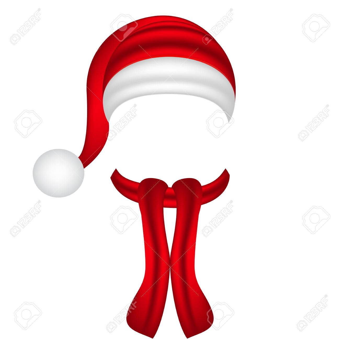 scarf and hat of Santa Claus - 49391903