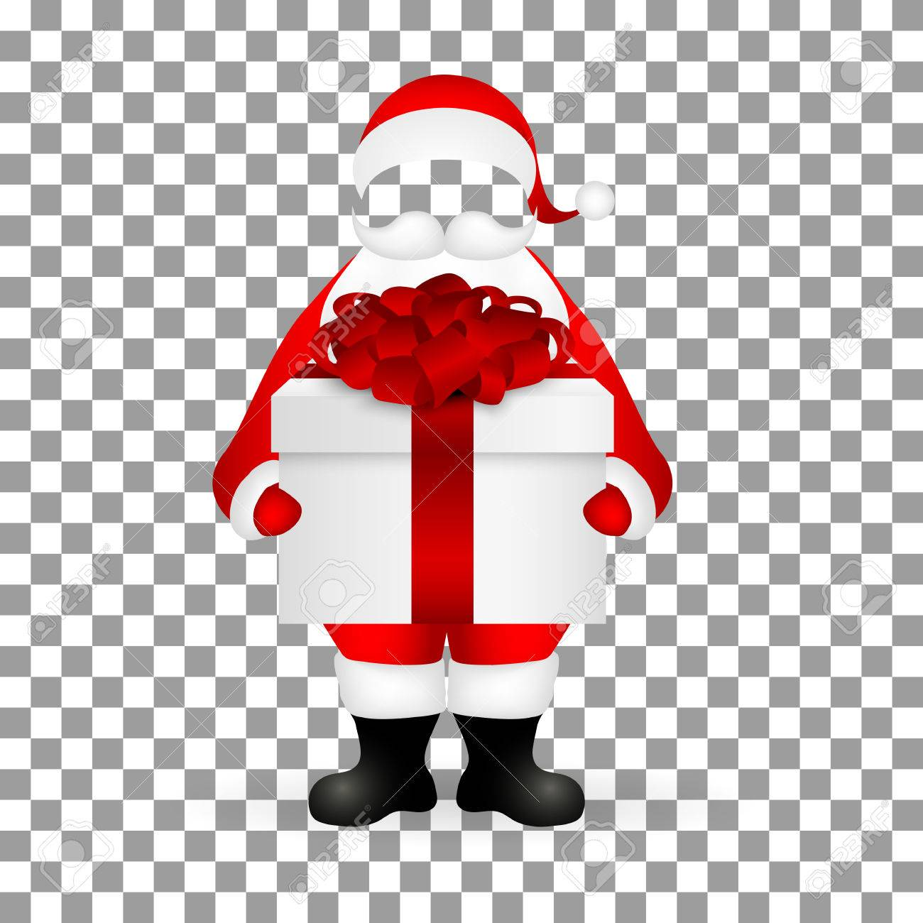 template santa claus to insert a human face vector royalty free
