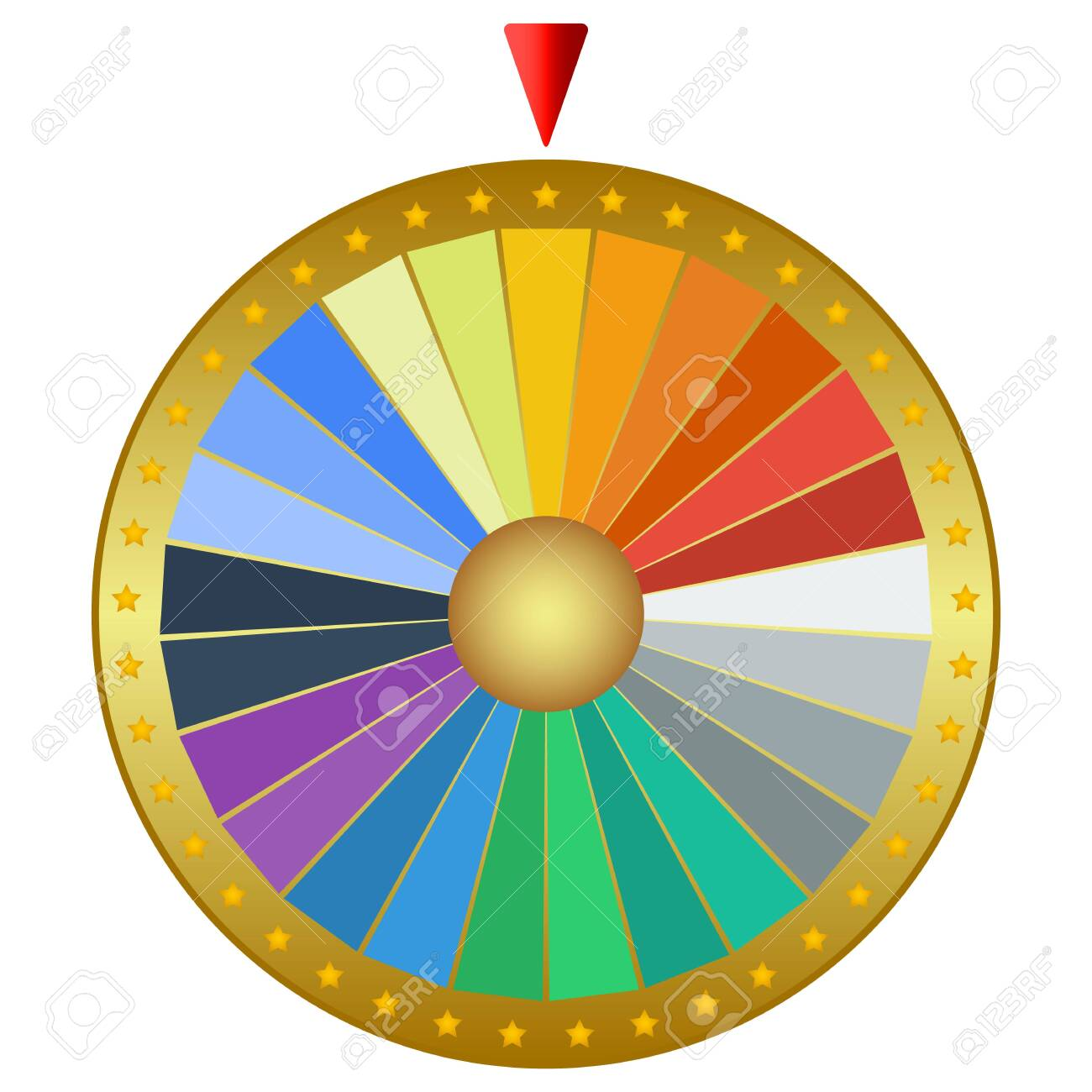 Prize wheel of fortune isolated on a white background. Casino machine design, vector illustration - 142414379