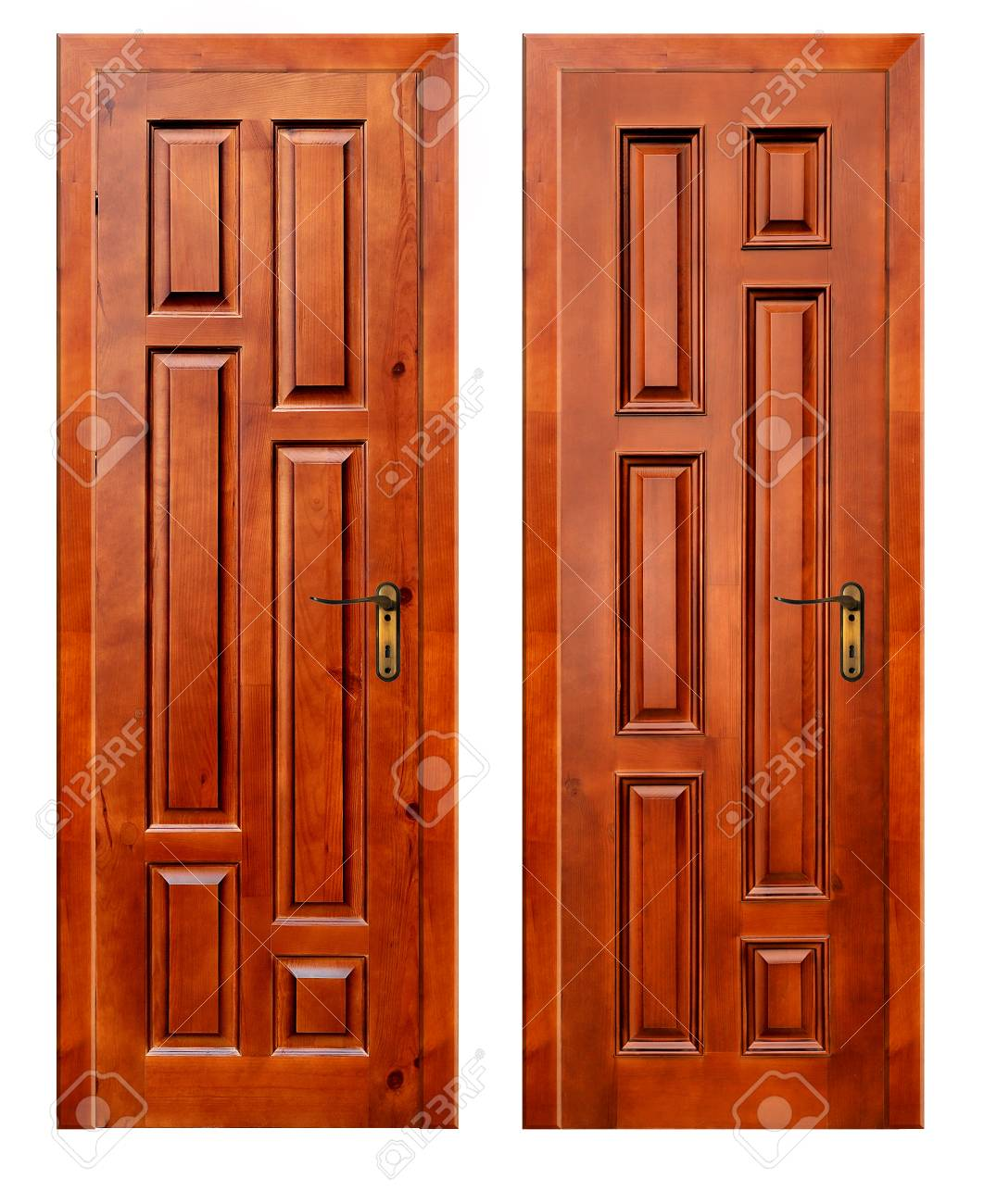 Stock Photo - two wooden doors isolated on white background with patch  sc 1 st  123RF.com & Two Wooden Doors Isolated On White Background With Patch Stock Photo ...