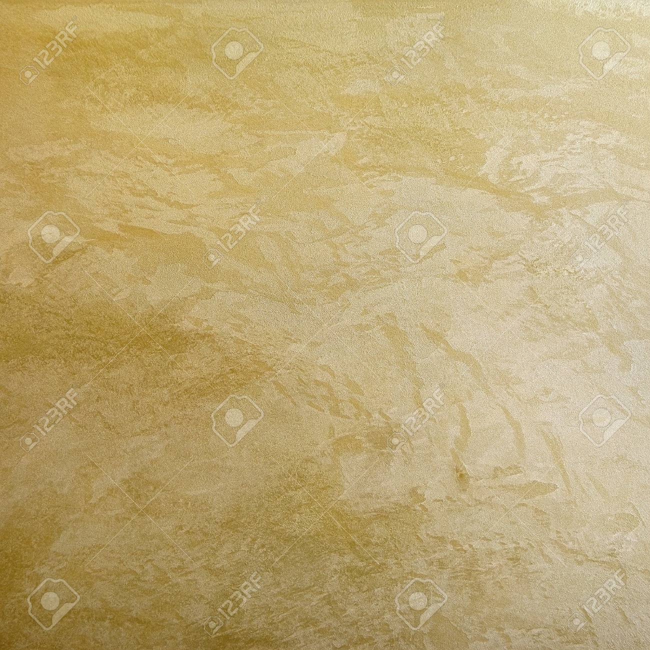 Golden Effect Decorative Plaster Surface Background For Wall Stock ...