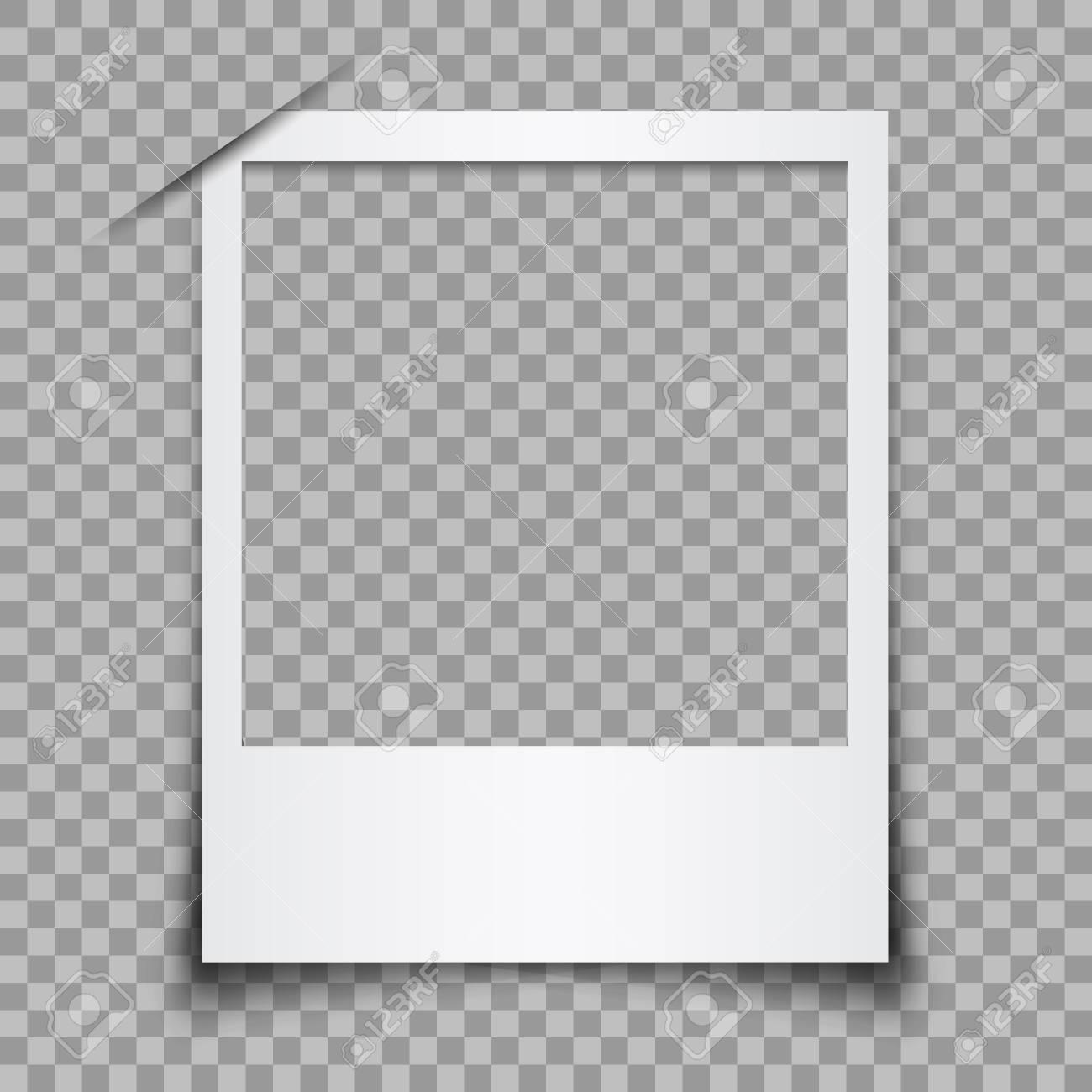 Empty white photo frame - stock vector - 99463315