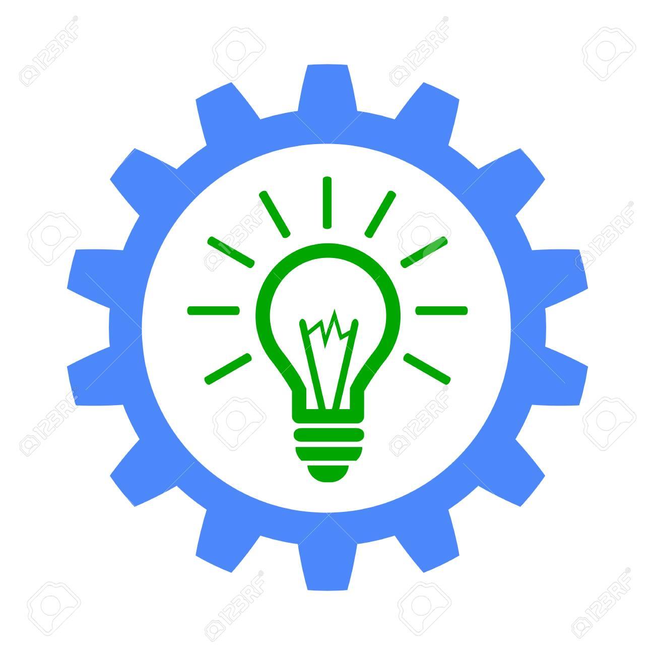 Gear Generator Idea Icon Royalty Free Cliparts Vectors And Stock