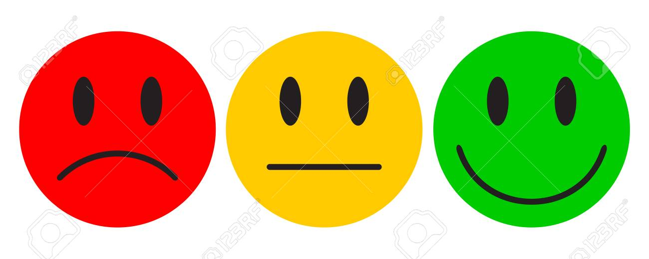 Three colored smilies - for stock - 100848872