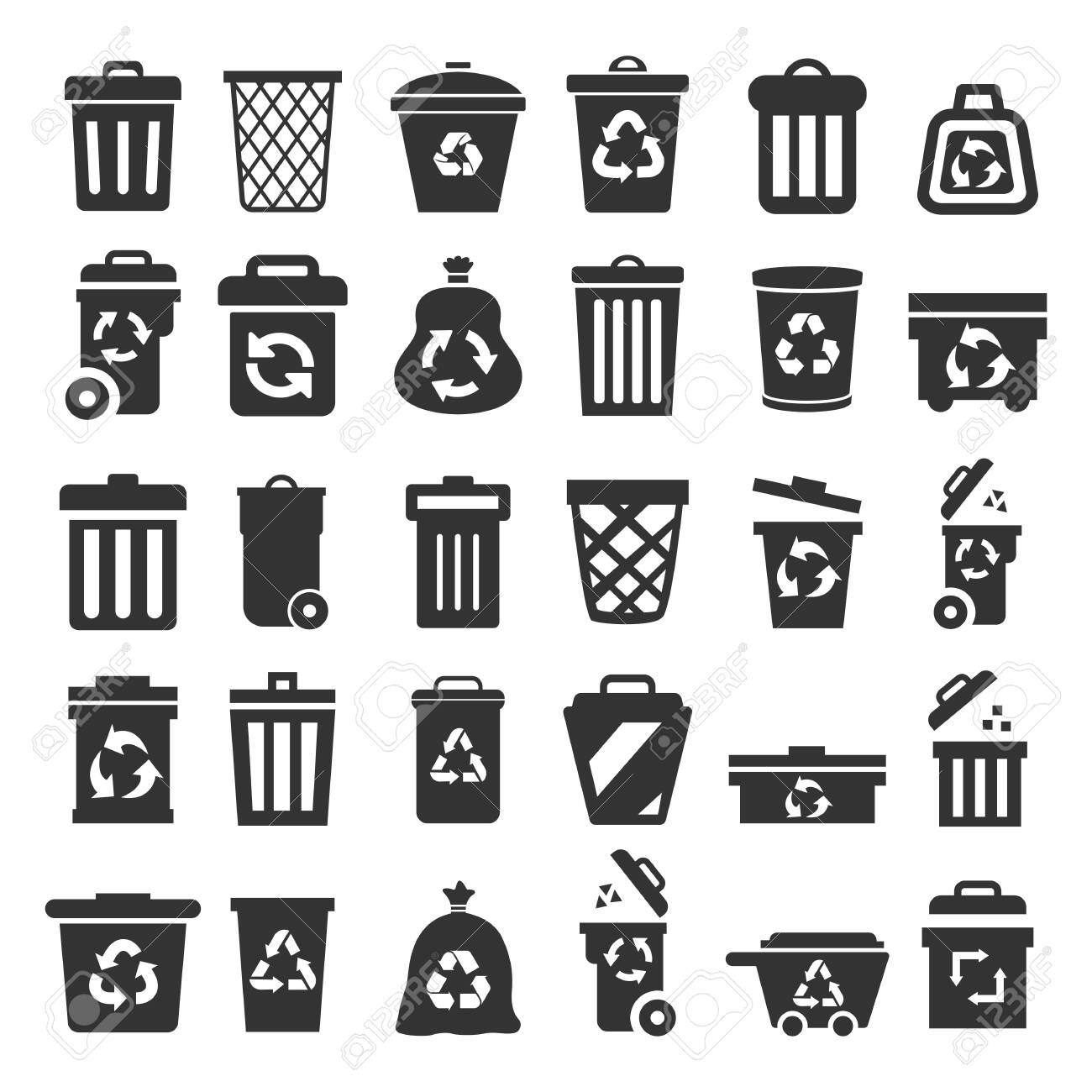 Set of trash can – for stock - 149269115