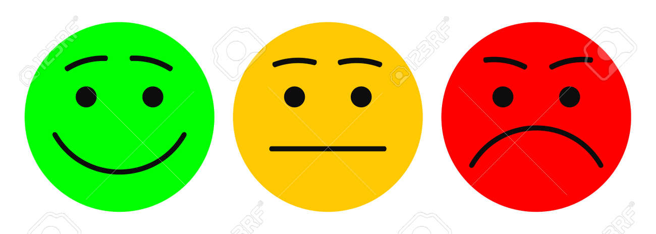 Three smilies - vector for stock - 155177208
