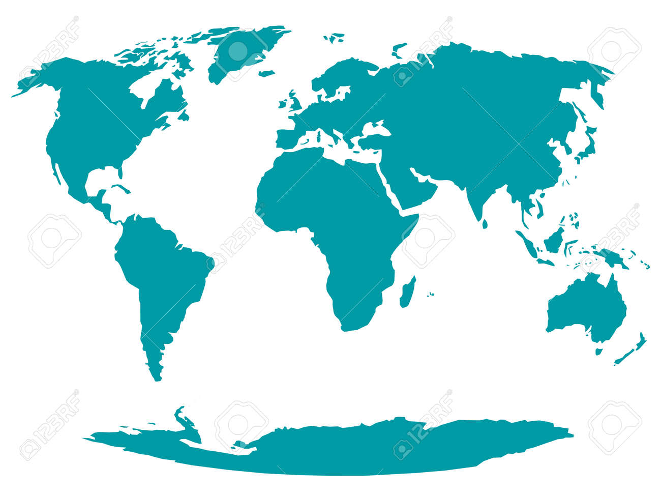 All World Map - stock vector - 155538631