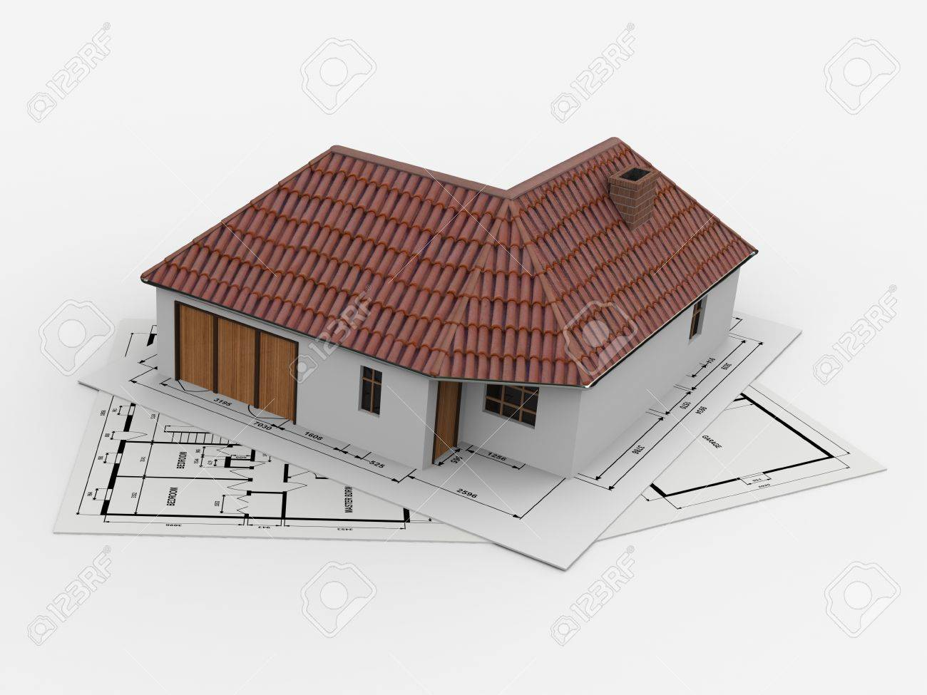 Project for a small house plans for the building on which the house is encouraged