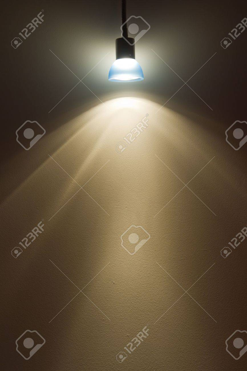 wall lighting effects. Blue Small Lamp Lighting On Wall Giving Light Effects Stock Photo - 10471669 M