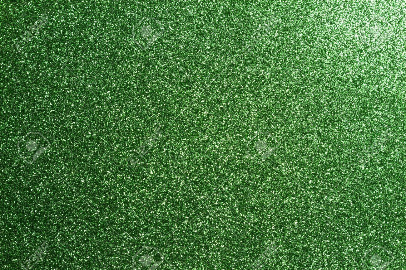 green glitter full frame textured shiny background Stock Photo - 18555838