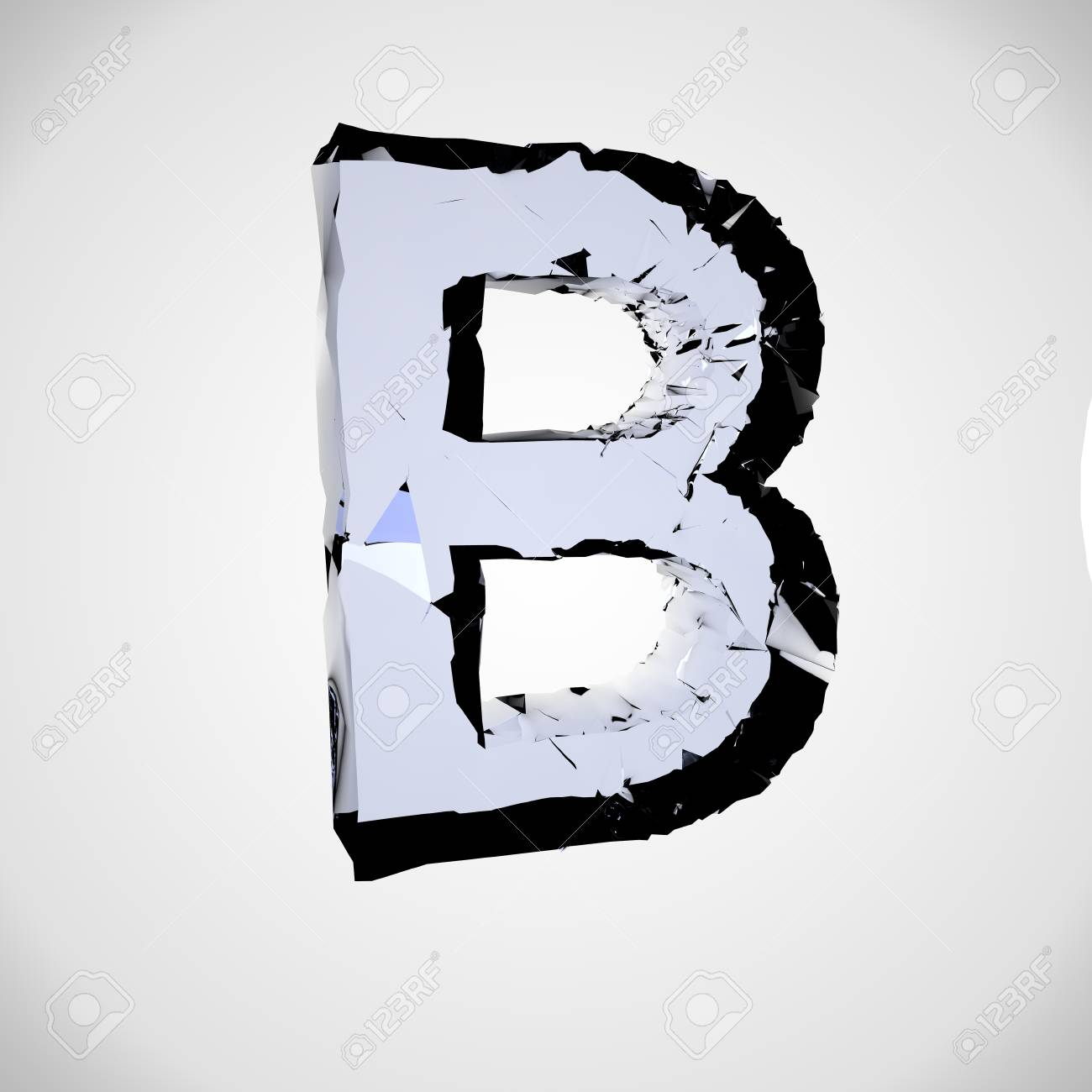 Single Character Big Letter B Isolated Stock Photo Picture And