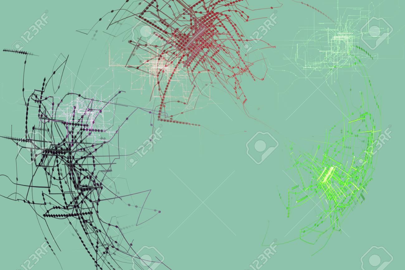 Circuito Abstracto Moderno Fondo De Fotograma Completo Fotos ...
