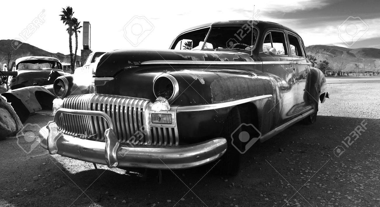 Rusty Old Classic Car, Junkyard, California, USA. Stock Photo ...
