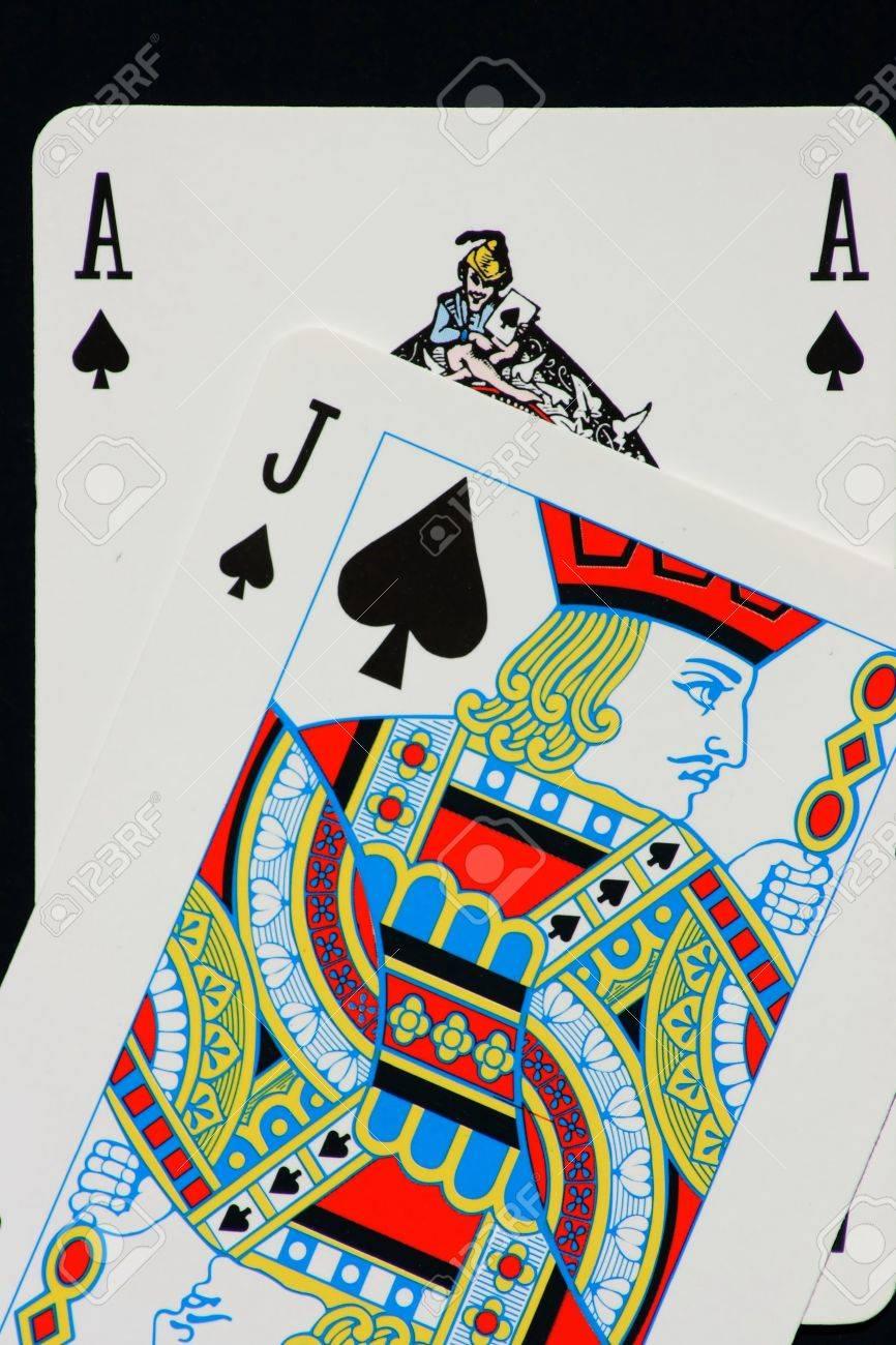 Blackjack jack of spades poker hand clip art free