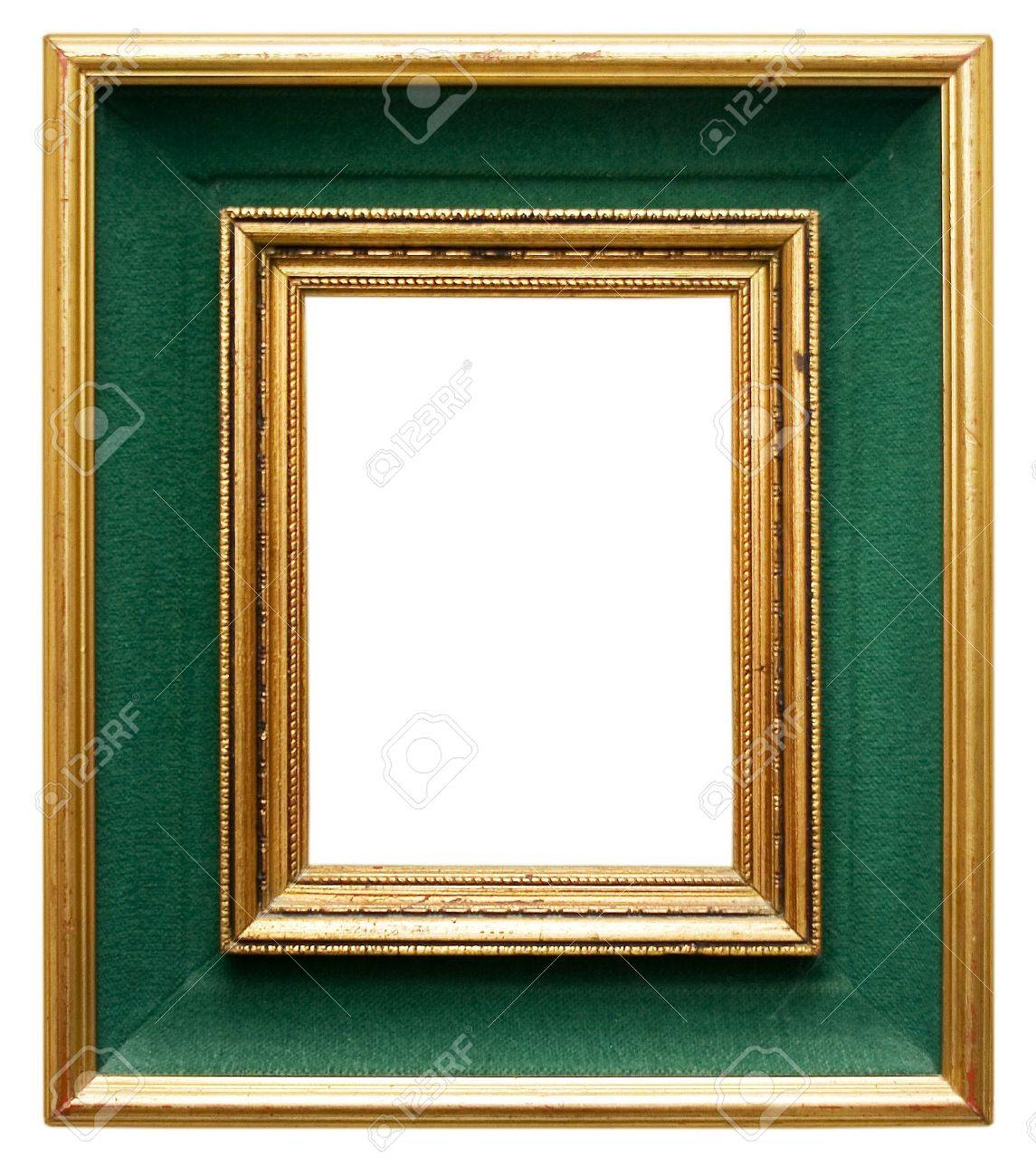 Green Frame With Gilded Borders Stock Photo Picture And Royalty