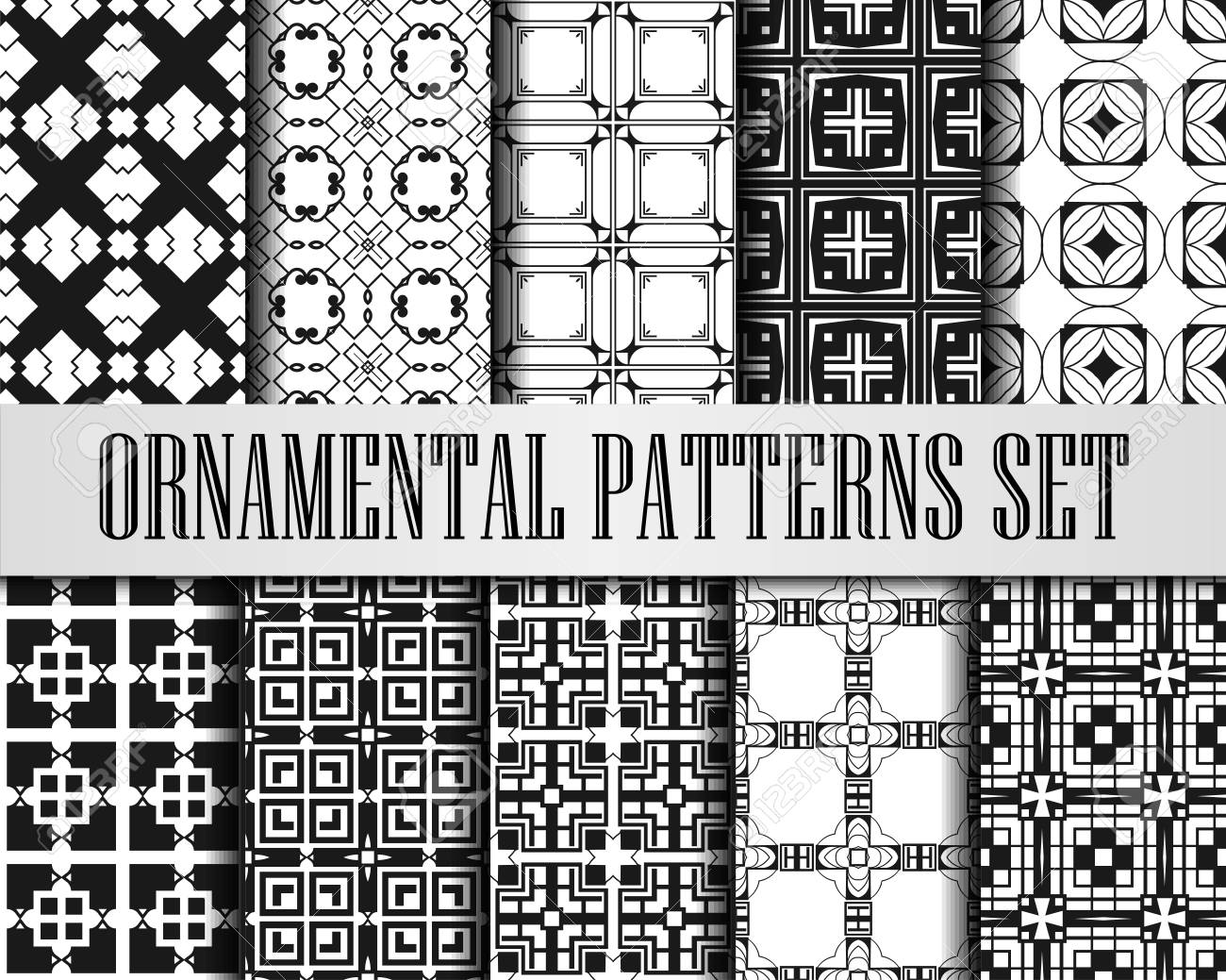 Black And White Art Deco Patterns