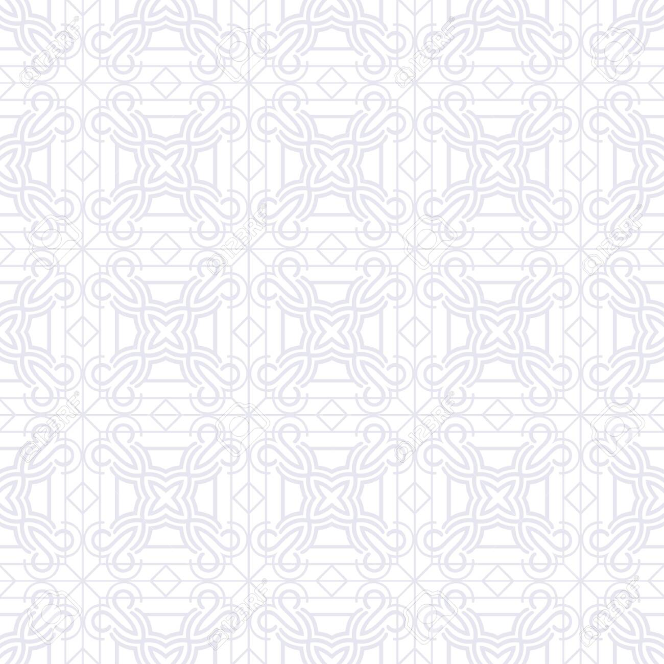 Abstract pattern in arabian style. Seamless vector background. Graphic modern art deco pattern - 123417202