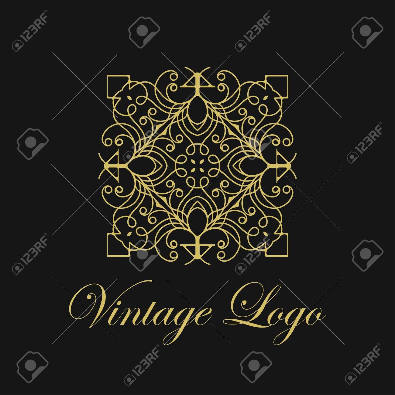 Vector Ornament Logo Design Template Luxury Vintage Modern Art